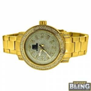 HipHopBling .75 Carat Diamond Queen IceTime Womens Watch Gold