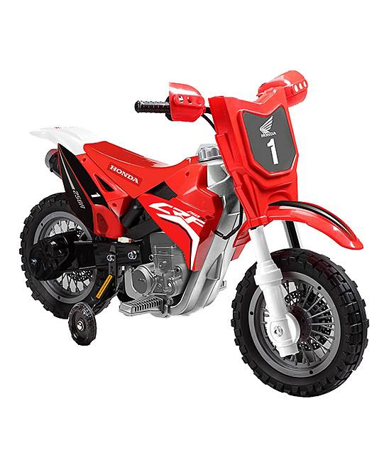 Best Ride On Cars Foot-to-Floor Toys Red - Red Honda CRF250R 6V Dirt Bike Ride-On