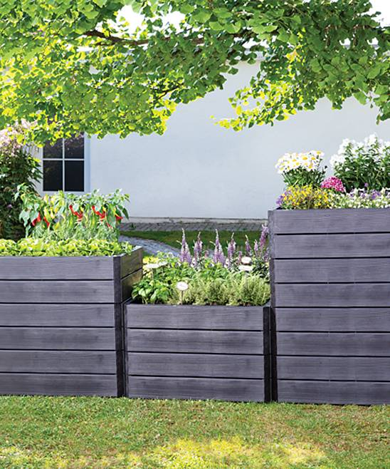 Tierra Garden Outdoor Planters - Ergo Quadro Large Raised Bed System