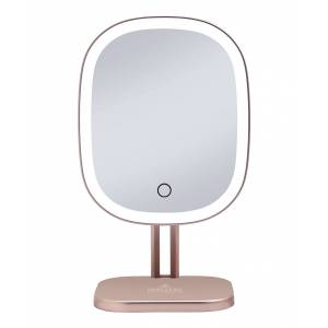 Impressions Vanity Co. Makeup Mirrors rose - Rose Goldtone Touch Highlight LED Makeup Mirror