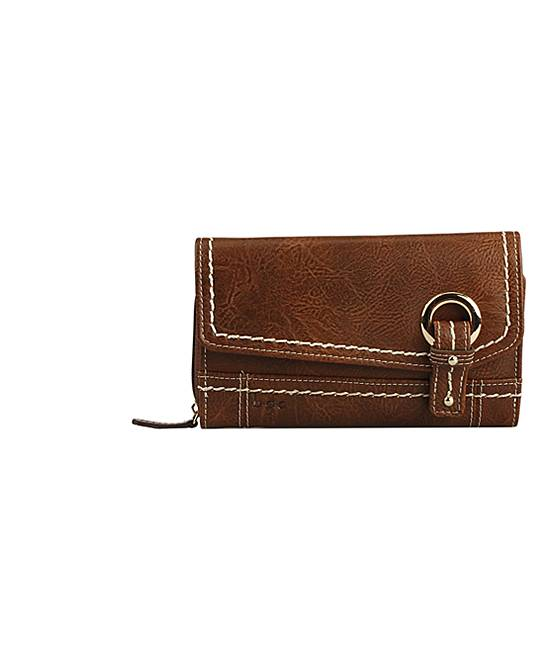 B..c. Women's Wallets Saddle - Saddle Amherst Grommet Phone Wallet
