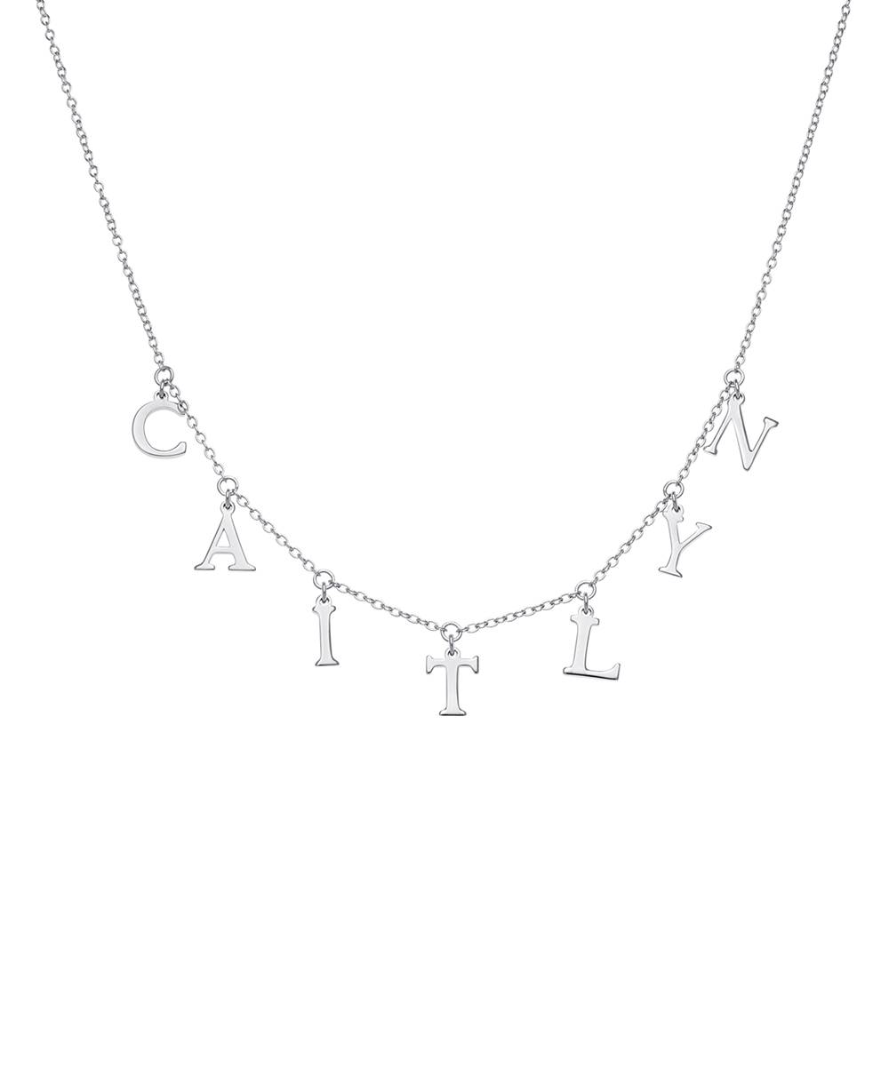 Limoges Jewelry Necklaces SILVER - Sterling Silver Personalized Station Necklace - Kids