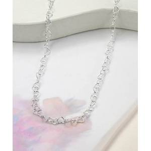 Jackson Martha Jackson Women's Necklaces silver - Sterling Silver Heart-Link Necklace