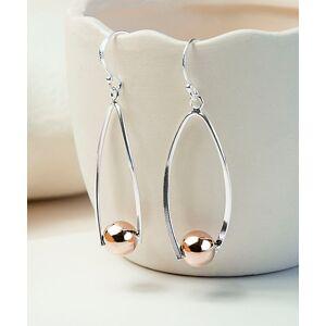 Jackson Martha Jackson Women's Earrings silver - Two-Tone Sterling Silver Oval Ball Drop Earrings