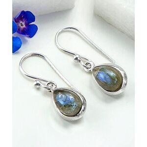 Jackson Martha Jackson Women's Earrings silver - Labradorite & Sterling Silver Teardrop Earrings