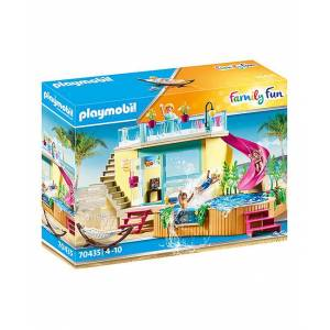 Playmobil Toy Building Sets - Bungalow With Pool Toy Set