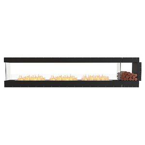 Flex Firebox - Peninsula with Decorative Sides by EcoSmart Fire - Color: Black - Finish: Black - (ESF.FX.140PN.BXR)