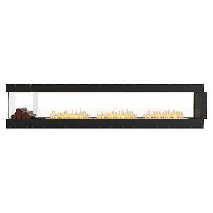 Flex Firebox - Peninsula with Decorative Sides by EcoSmart Fire - Color: Black - Finish: Black - (ESF.FX.140PN.BXL)