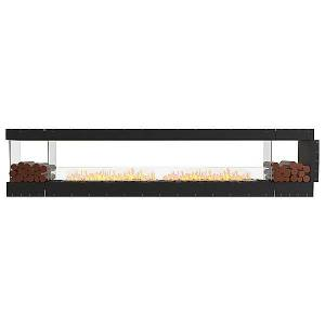 Flex Firebox - Peninsula with Decorative Sides by EcoSmart Fire - Color: Black - Finish: Black - (ESF.FX.140PN.BX2)
