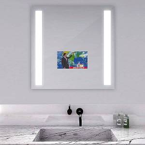 Electric Mirror Fusion Lighted Mirror with Television by Electric Mirror - Color: Clear (FUS-DC-ZX-156-AV-60.00X36.00-D2-L7SH-MS-30K-M)