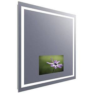 Electric Mirror Integrity Lighted Mirror with Television by Electric Mirror - Color: Clear (INT2-DC-215-AV-36.00X42.00-D2-L7CSH-MS-30K-M)