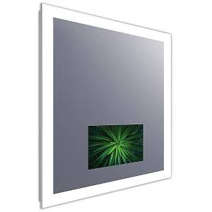 Electric Mirror Silhouette Lighted Mirror with Television by Electric Mirror - Color: Silver (SIL2-215-AV-42.00X42.00-D2-L7CSHD-MS-30K-M)