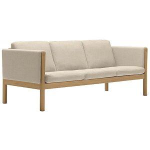 Carl Hansen CH163 Sofa by Carl Hansen - Color: Beige - Finish: Wood tones - (CH163-OAK LAQ-SIF 90)