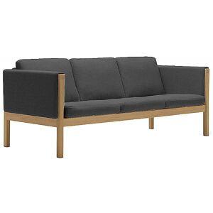 Carl Hansen CH163 Sofa by Carl Hansen - Color: Black - Finish: Wood tones - (CH163-OAK LAQ-SIF 98)