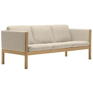 Carl Hansen CH163 Sofa by Carl Hansen - Color: Beige - Finish: Wood tones - (CH163-OAK OIL-SIF 90)