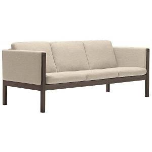 Carl Hansen CH163 Sofa by Carl Hansen - Color: Beige - Finish: Wood tones - (CH163-WAL LAQ-SIF 90)