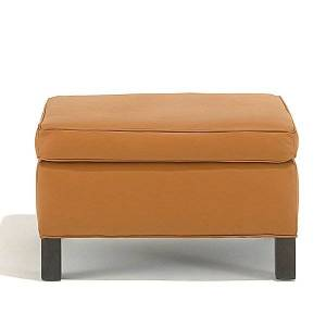 Knoll Krefeld Ottoman by Knoll - Color: Red - Finish: Wood tones - (754-AOC-K1206/8)