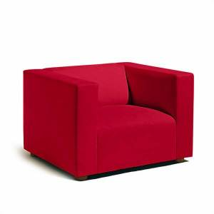 Knoll SM1 Lounge Chair by Knoll - Color: Red (SM1-1-AOC-K1206/10)