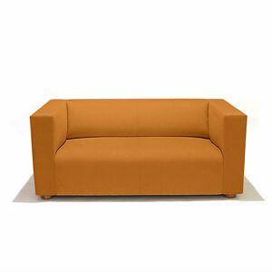 Knoll SM1 Sofa by Knoll - Color: Orange - Finish: Wood tones - (SM1-3-AOC-K1206/7)