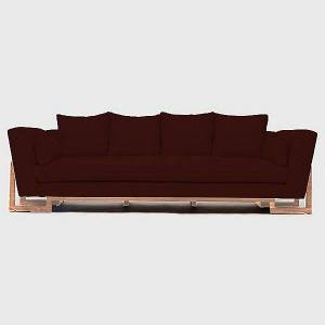 ARTLESS LRG Sofa by ARTLESS - Color: White - Finish: White - (A-LRG-S-2-PA-WO-LST)