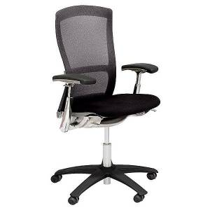 Knoll Life Office Chair by Knoll - Color: Black - Finish: Polished - (55P-3-6-A5K-CR-BSF15-KST15-NB)