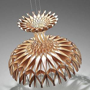 Bover Dome LED Chandelier by Bover - Color: Wood Tones - Finish: White - (2581821000U/P812)