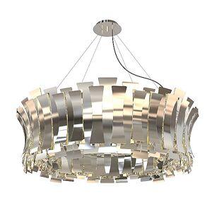 Etta Round Chandelier by DelightFULL - Color: Silver - Finish: Polished Nickel - (ETTARND_NKLPL)