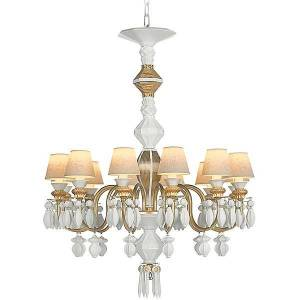 Lladro Belle de Nuit Single Tier Chandelier by Lladro - Color: Gold - Finish: Glossy - (01023309)