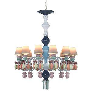 Belle de Nuit Single Tier Chandelier by Lladro - Color: Multicolor - Finish: Glossy - (01023289)