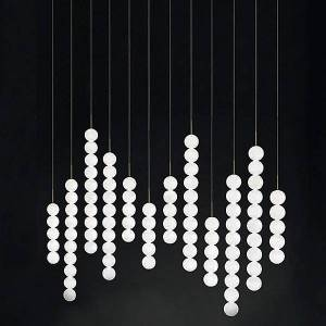 Terzani Abacus 12 LED Linear Suspension Light by Terzani - Color: White - Finish: Matte - (0V12SE8BAR3M)