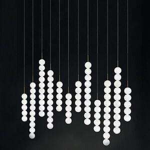 Terzani Abacus 12 LED Linear Suspension Light by Terzani - Color: White - Finish: Matte - (0V12SM3BAR3M)