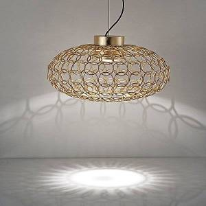 Terzani G.R.A. Oval LED Pendant Light by Terzani - Color: Gold - Finish: Painted - (0N41SH5C8ALW)