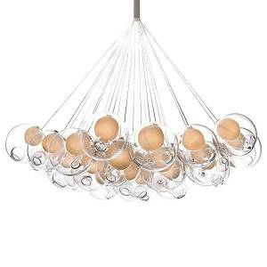 Bocci 28.37 Thirty-Seven Pendant Chandelier by Bocci - Color: White (28.37 ROUND LED)