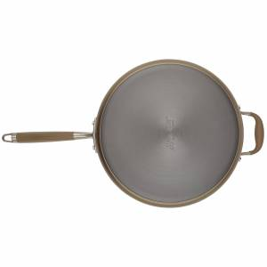 Advanced Home 5-Quart Sauté Pan with Helper Handle (Moonstone)