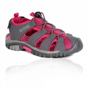 Regatta Westshore Junior Walking Sandals - SS21 - Grey / Pink - junior / girls - Size: 33