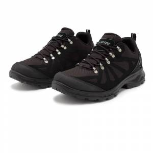 Hi-Tec Monte Viso Waterproof Walking Shoes - Black - mens - Size: 41
