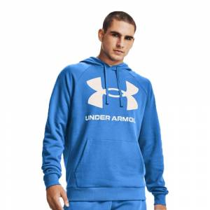 Under Armour Rival Fleece Big Logo Top - SS21 - Blue - mens - Size: X Large