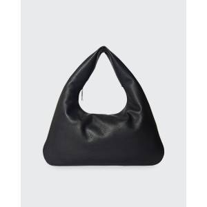 THE ROW Everyday Shoulder Bag in Luxe Grained Calfskin  - BLACK - BLACK