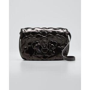 Atelier Rose 03 Edition Leather Rose Small Shoulder Bag  - BLACK - BLACK