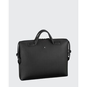 Men's Extreme 2.0 Printed Leather Briefcase  - BLACK - BLACK