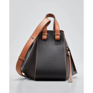 Hammock Small Top Handle Bag  - BLACK/BROWN - BLACK/BROWN