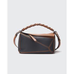 Puzzle Edge Small Bag  - BLACK/BROWN - BLACK/BROWN