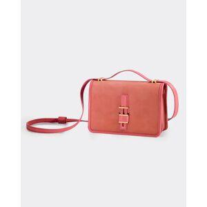 Lock-In Petite Velvet Nubuck & Napa Leather Shoulder Bag  - DARK ORANGE - DARK ORANGE