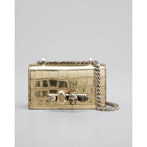 Jeweled Satchel Bag  - GOLD - GOLD