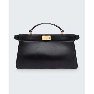 Peekaboo Medium Top Handle Tote Bag  - BLACK - BLACK