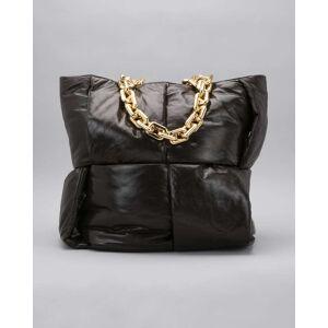 Bottega Veneta Intrecciato Puffy Chain Top Handle Tote Bag  - DARK BROWN - DARK BROWN