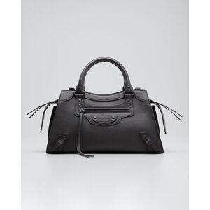 Balenciaga Neo Classic City Small Grained Calf Satchel Bag  - BLACK - BLACK