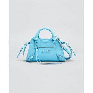 Balenciaga Neo Classic City Mini Grained Leather Satchel Bag  - BLUE GREY - BLUE GREY