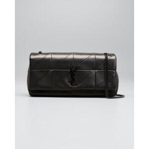 Saint Laurent Jamie Medium Carre Rive Gauche Shoulder Bag  - BLACK - BLACK