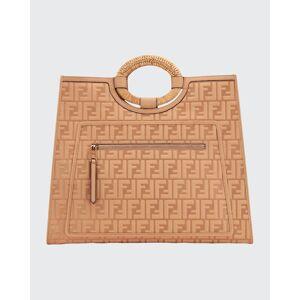 Fendi Runaway FF 1974 Large Shopping Tote Bag  - BEIGE - BEIGE